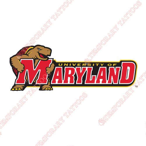 Maryland Terrapins Customize Temporary Tattoos Stickers NO.4998