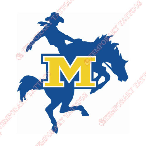 McNeese State Cowboys Customize Temporary Tattoos Stickers NO.5012