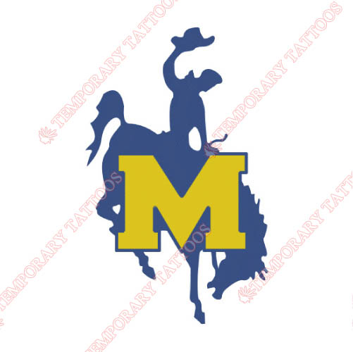 McNeese State Cowboys Customize Temporary Tattoos Stickers NO.5013
