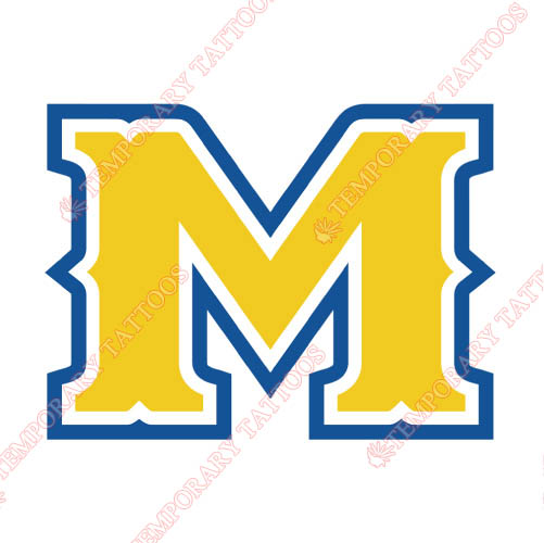McNeese State Cowboys Customize Temporary Tattoos Stickers NO.5015