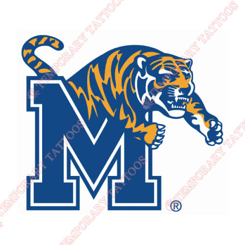 Memphis Tigers Customize Temporary Tattoos Stickers NO.5016
