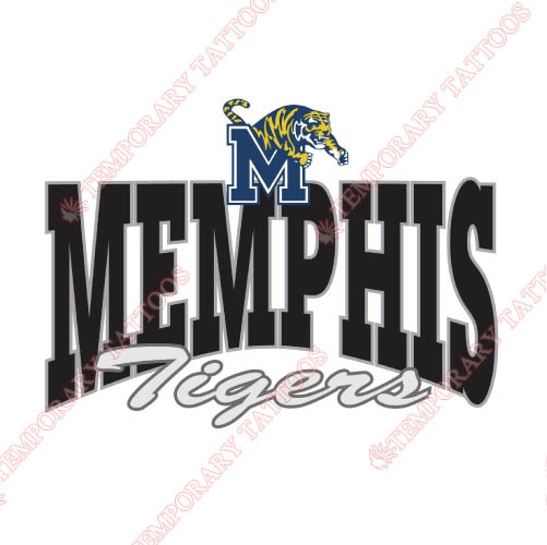Memphis Tigers Customize Temporary Tattoos Stickers NO.5018