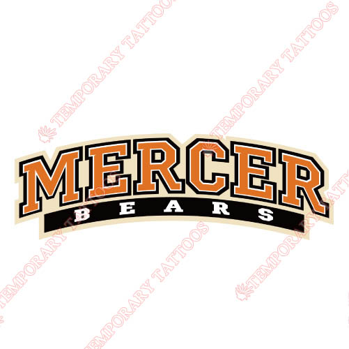 Mercer Bears Customize Temporary Tattoos Stickers NO.5021