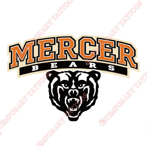 Mercer Bears Customize Temporary Tattoos Stickers NO.5022