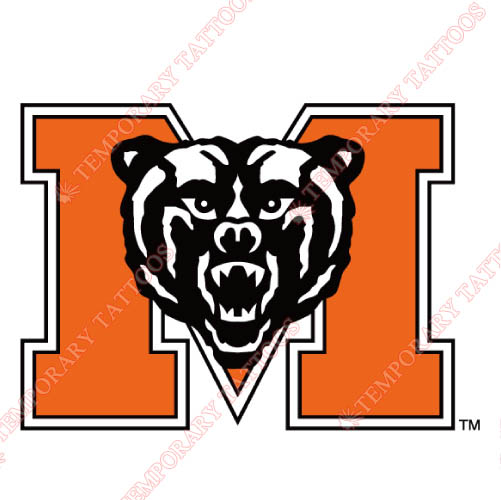 Mercer Bears Customize Temporary Tattoos Stickers NO.5023