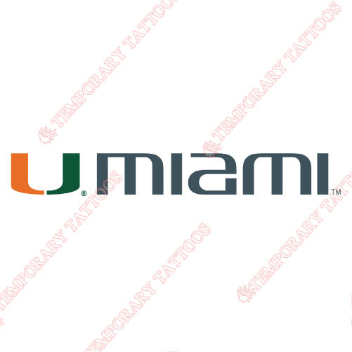 Miami Hurricanes Customize Temporary Tattoos Stickers NO.5043