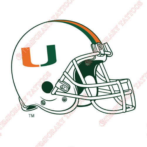 Miami Hurricanes Customize Temporary Tattoos Stickers NO.5046