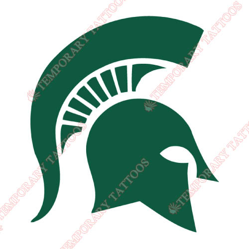 Michigan State Spartans Customize Temporary Tattoos Stickers NO.5055