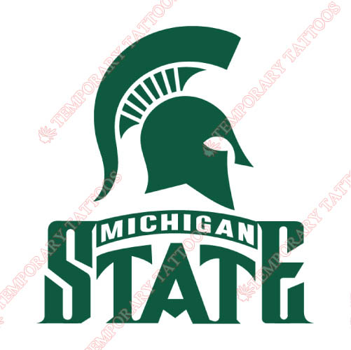 Michigan State Spartans Customize Temporary Tattoos Stickers NO.5057