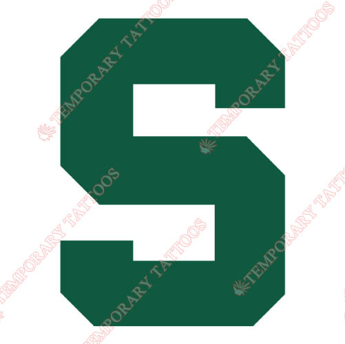 Michigan State Spartans Customize Temporary Tattoos Stickers NO.5059