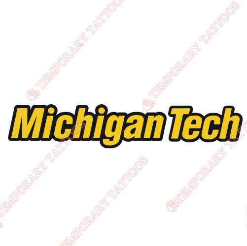 Michigan Tech Huskies Customize Temporary Tattoos Stickers NO.5061