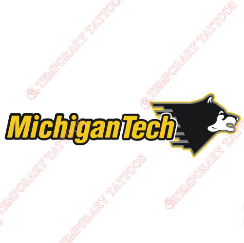 Michigan Tech Huskies Customize Temporary Tattoos Stickers NO.5062