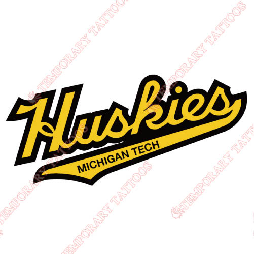 Michigan Tech Huskies Customize Temporary Tattoos Stickers NO.5063