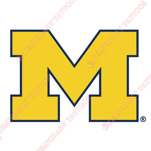 Michigan Wolverines Customize Temporary Tattoos Stickers NO.5065