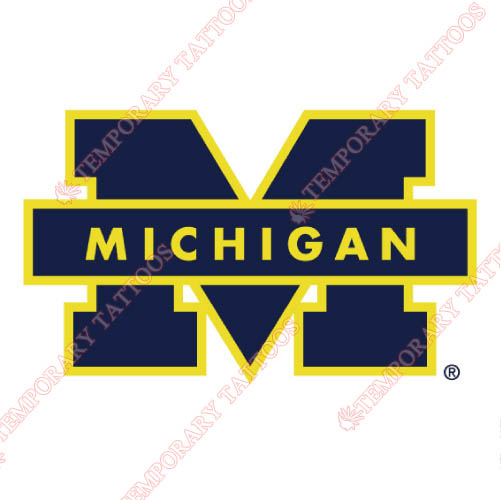 Michigan Wolverines Customize Temporary Tattoos Stickers NO.5067