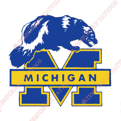Michigan Wolverines Customize Temporary Tattoos Stickers NO.5068