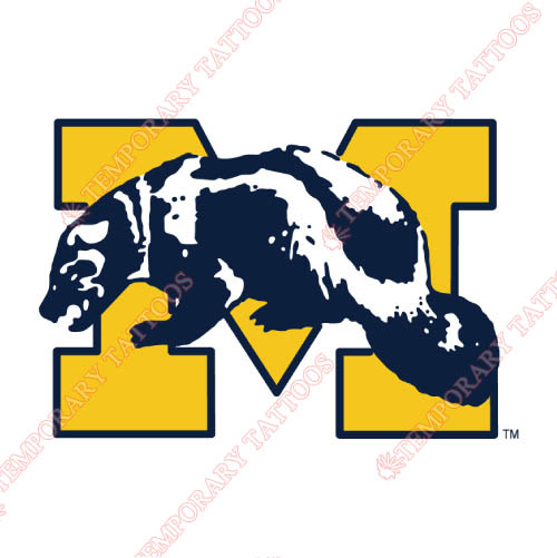 Michigan Wolverines Customize Temporary Tattoos Stickers NO.5070