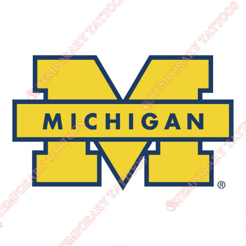 Michigan Wolverines Customize Temporary Tattoos Stickers NO.5071