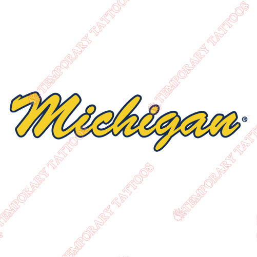 Michigan Wolverines Customize Temporary Tattoos Stickers NO.5072