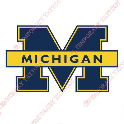 Michigan Wolverines Customize Temporary Tattoos Stickers NO.5074