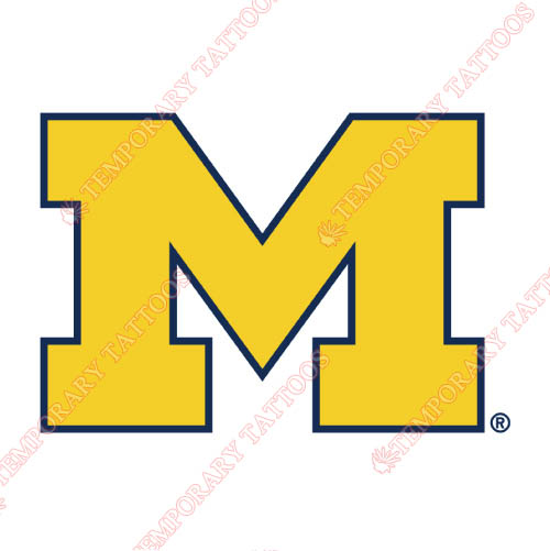 Michigan Wolverines Customize Temporary Tattoos Stickers NO.5075