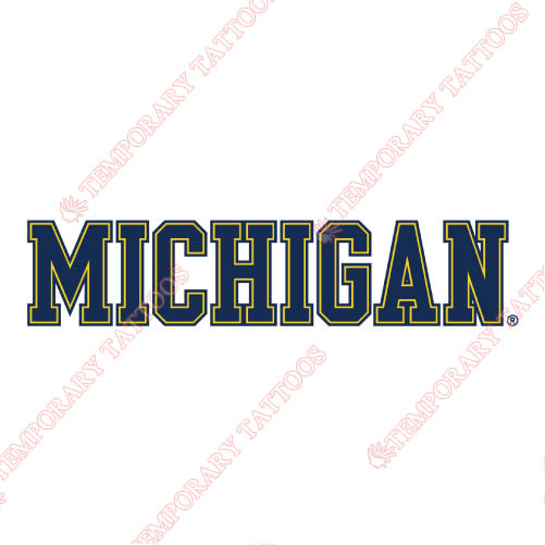 Michigan Wolverines Customize Temporary Tattoos Stickers NO.5076
