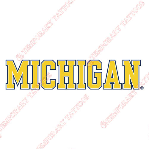 Michigan Wolverines Customize Temporary Tattoos Stickers NO.5077