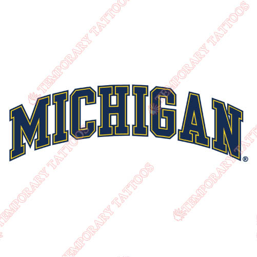 Michigan Wolverines Customize Temporary Tattoos Stickers NO.5078