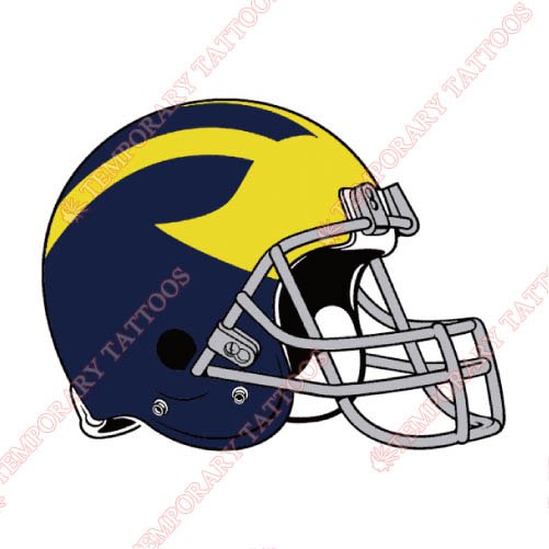 Michigan Wolverines Customize Temporary Tattoos Stickers NO.5079