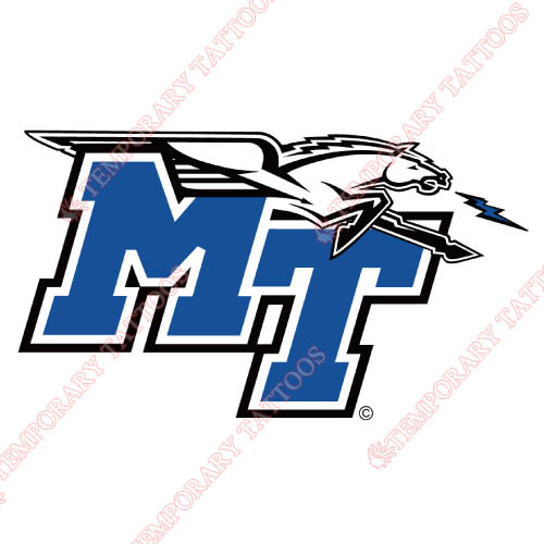 Middle Tennessee Blue Raiders Customize Temporary Tattoos Stickers NO.5080