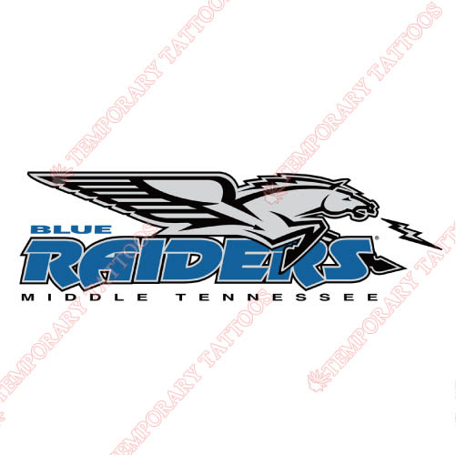 Middle Tennessee Blue Raiders Customize Temporary Tattoos Stickers NO.5081