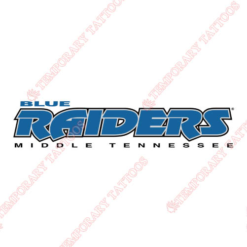 Middle Tennessee Blue Raiders Customize Temporary Tattoos Stickers NO.5083