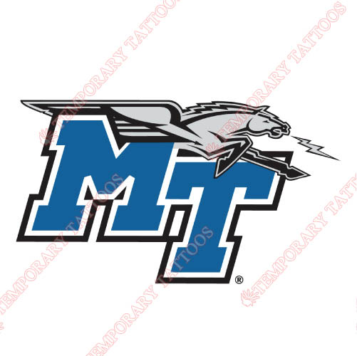 Middle Tennessee Blue Raiders Customize Temporary Tattoos Stickers NO.5084