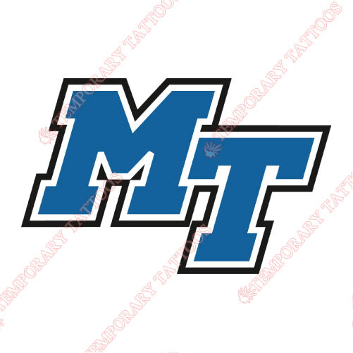 Middle Tennessee Blue Raiders Customize Temporary Tattoos Stickers NO.5086