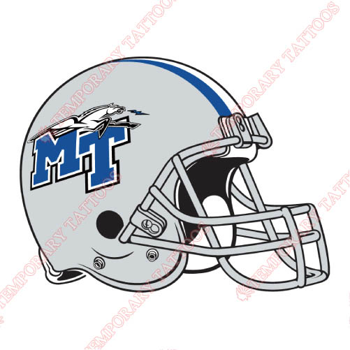 Middle Tennessee Blue Raiders Customize Temporary Tattoos Stickers NO.5087