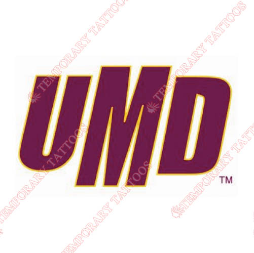 Minnesota Duluth Bulldogs Customize Temporary Tattoos Stickers NO.5089
