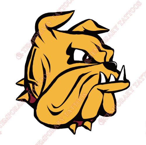 Minnesota Duluth Bulldogs Customize Temporary Tattoos Stickers NO.5091