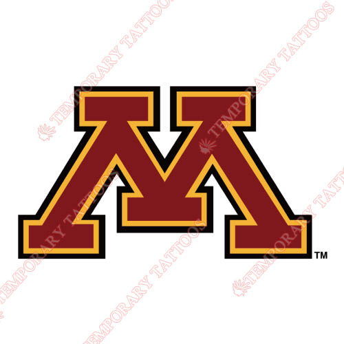Minnesota Golden Gophers Customize Temporary Tattoos Stickers NO.5092