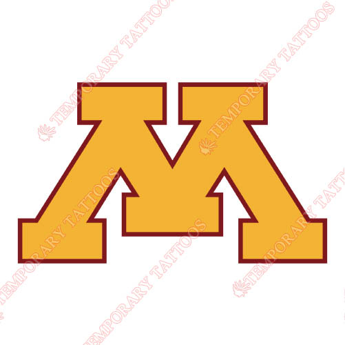 Minnesota Golden Gophers Customize Temporary Tattoos Stickers NO.5093