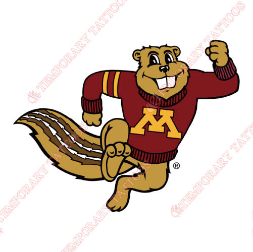 Minnesota Golden Gophers Customize Temporary Tattoos Stickers NO.5094