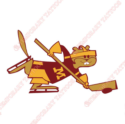 Minnesota Golden Gophers Customize Temporary Tattoos Stickers NO.5095