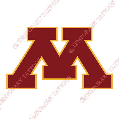 Minnesota Golden Gophers Customize Temporary Tattoos Stickers NO.5096