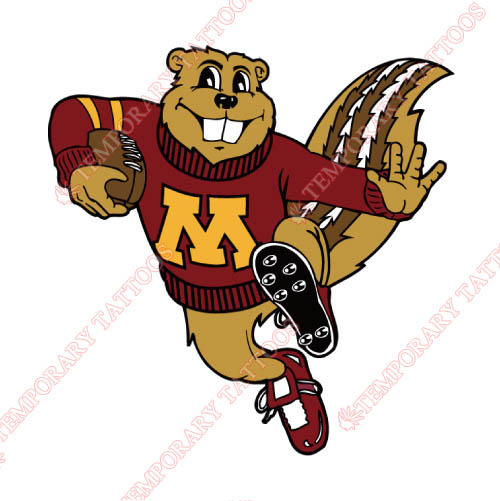 Minnesota Golden Gophers Customize Temporary Tattoos Stickers NO.5097