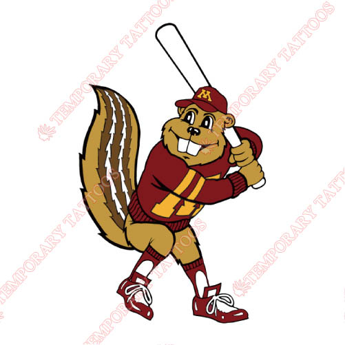 Minnesota Golden Gophers Customize Temporary Tattoos Stickers NO.5098