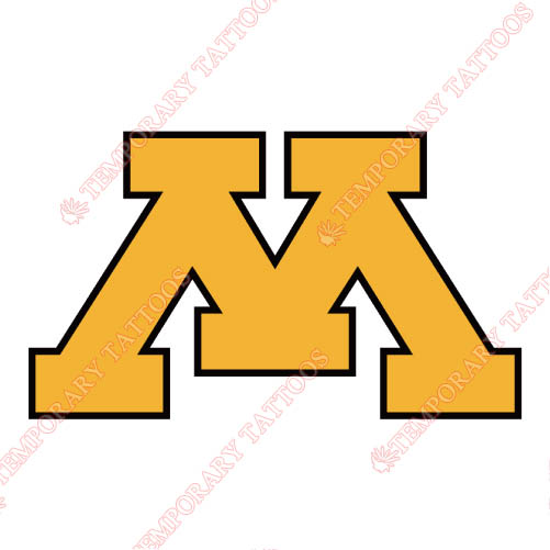 Minnesota Golden Gophers Customize Temporary Tattoos Stickers NO.5100