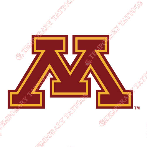 Minnesota Golden Gophers Customize Temporary Tattoos Stickers NO.5101