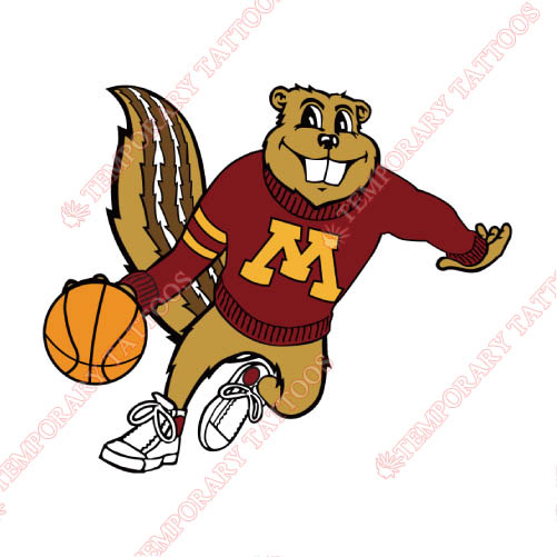 Minnesota Golden Gophers Customize Temporary Tattoos Stickers NO.5103