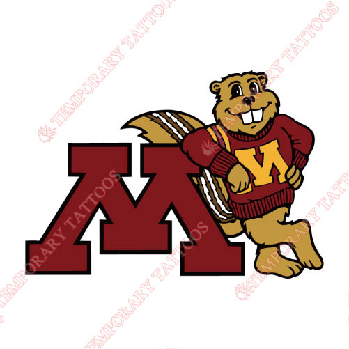 Minnesota Golden Gophers Customize Temporary Tattoos Stickers NO.5104