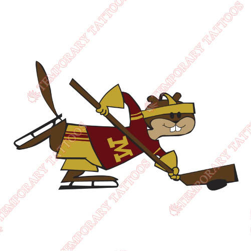 Minnesota Golden Gophers Customize Temporary Tattoos Stickers NO.5105