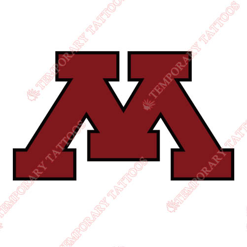Minnesota Golden Gophers Customize Temporary Tattoos Stickers NO.5106